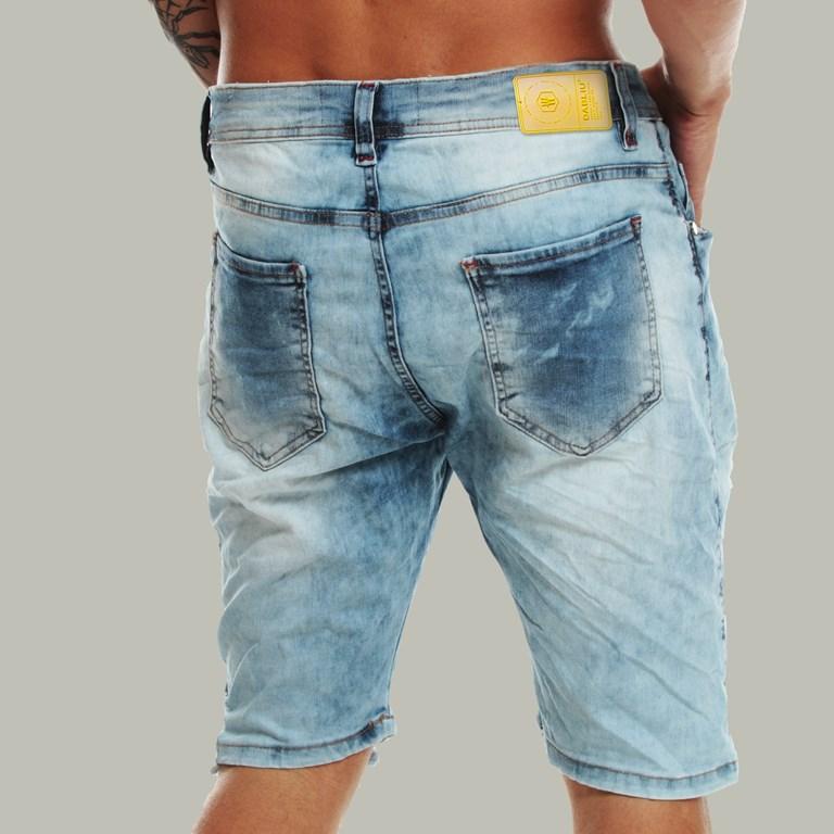 Bermuda Jeans Skinny Light Blue Dabliu