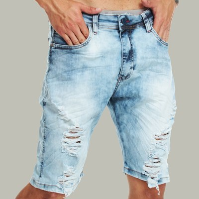Bermuda Jeans Skinny Light Blue Dabliu