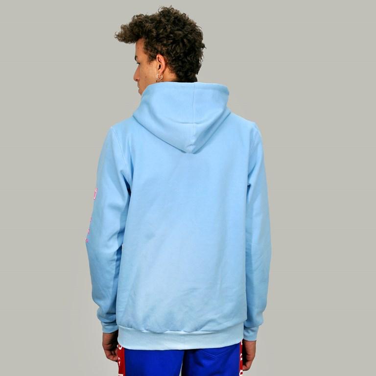 Blusa Moletom Canguru Com Touca Blue Dabliu