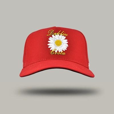 Bone Aba Curva Flower Red Dabliu