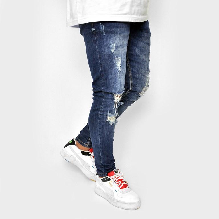 Calca Jeans Destroyed Blue Dabliu