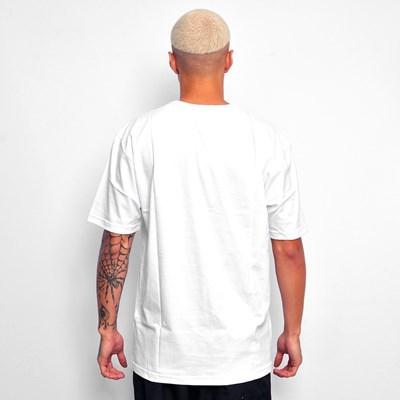 Camiseta Branca Dabliu Azul Degrade