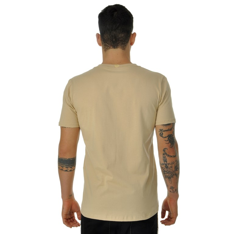 Camiseta Dabliu Brasão Bege