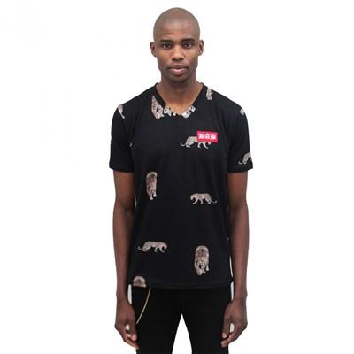 Camiseta Dablliu Full Print Onca V-neck