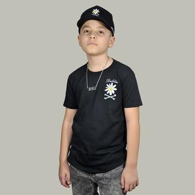 Camiseta Infantil Flower Mini Preta Dabliu