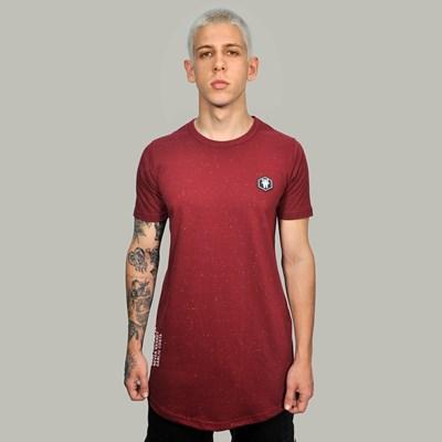 Camiseta Long Basic Botone Vinho Borracha Preta Dabliu