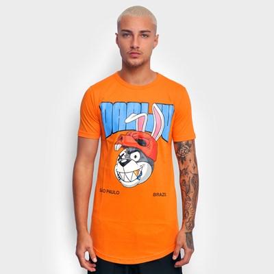 Camiseta Long Dab Bunny Laranja  Dabliu