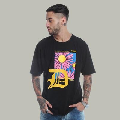Camiseta Long Dabliu D Flower Purple Yellow