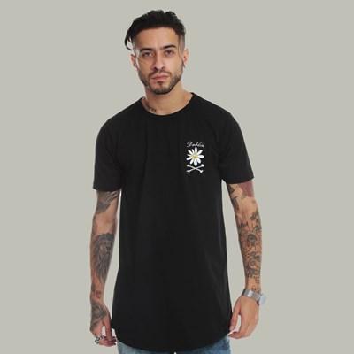 Camiseta Long Dabliu Flower Mini Black