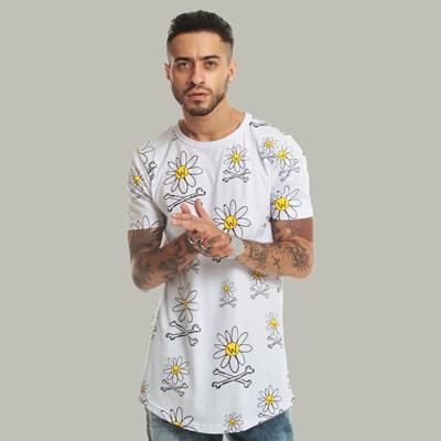 Camiseta Long Dabliu Full Print Flowers