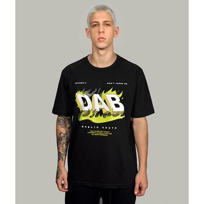 Camiseta Long Preta Dab Flame Dabliu