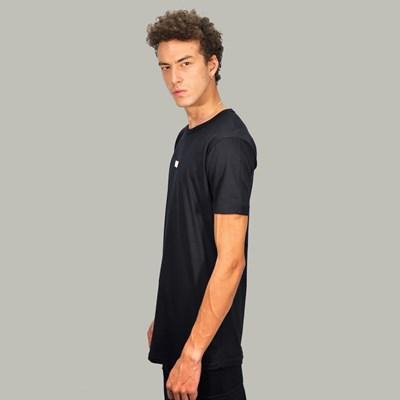 Camiseta Longline Box Logo Black Dabliu