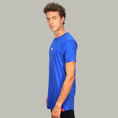 Camiseta Longline Box Logo Blue Dabliu
