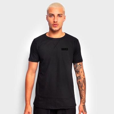 Camiseta Preta Básica Tag Preta Dabliu