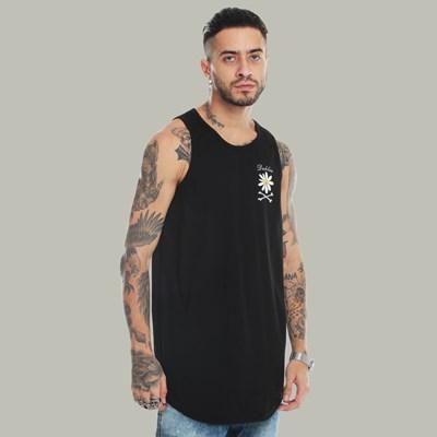 Camiseta Regata Dabliu Flower Mini Black