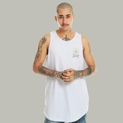 Camiseta Regata Dabliu Flower Mini Branca