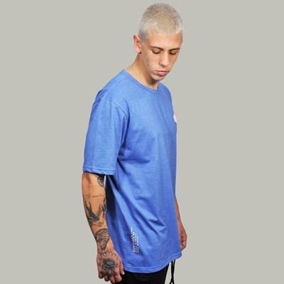 Camiseta Regular Basic Azul Flame Borracha Rosa Dabliu