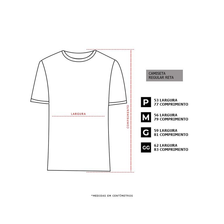 Camiseta Regular Basic Botone Preta Borracha Rosa Dabliu