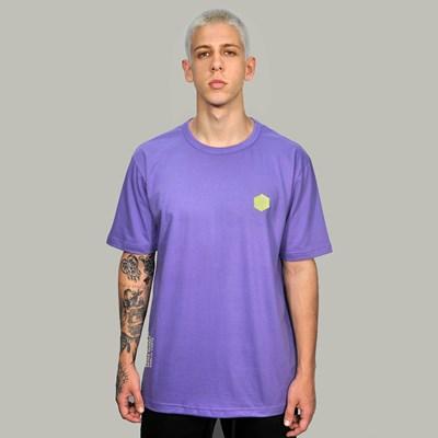 Camiseta Regular Basic Roxa Borracha Verde Dabliu