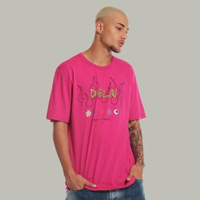 Camiseta Regular Dabliu Flame Rosa