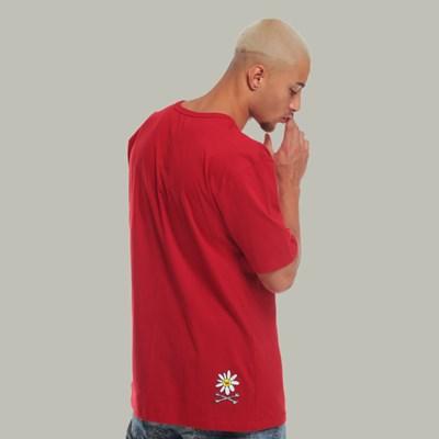 Camiseta Regular Dabliu Red Flower
