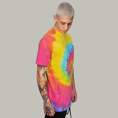 Camiseta Regular Tie Dye Colorida Dabliu