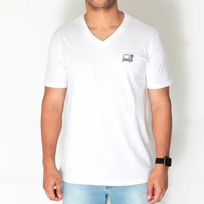 Camiseta V-neck White Dab X Titto