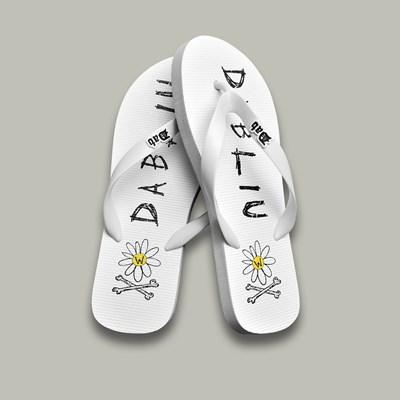 Chinelo Flip Flop Tiras Branco Dabliu