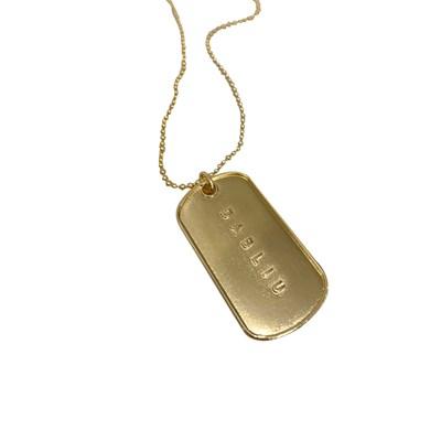 Colar  Dog Tag Gold